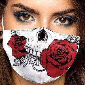 Other - Skull Rose Print Cotton Fashion Mask